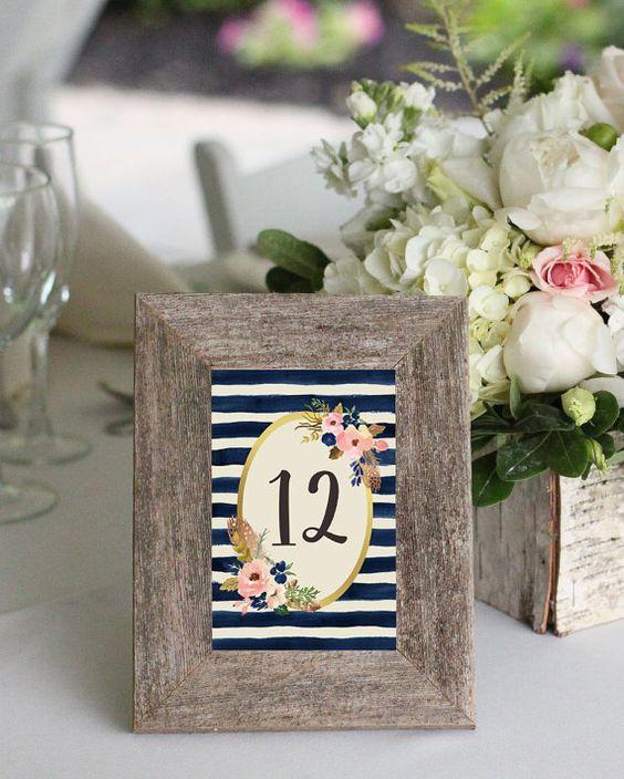 Wedding Table Card Ideas