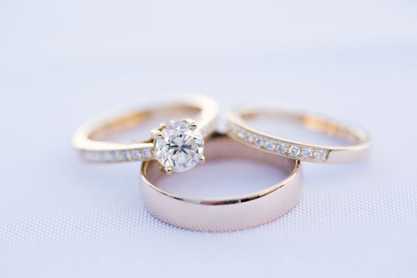 How do engagement rings and wedding bands work for Work wedding rings