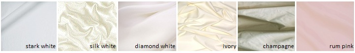 White vs ivory what s the best color for your skin tone for Wedding dress shades of white