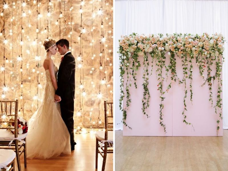 Wall Decoration For Wedding Ideas : Stunning ideas for hall decorations weddings
