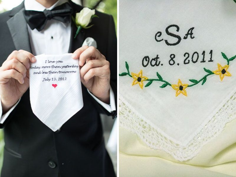 Wedding Day Presents For Groom From Bride : ... initials she may need it on the wedding day to wipe those tears of joy
