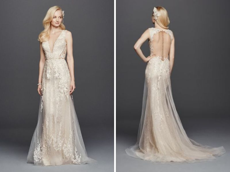Wedding Dresses For Night Time : Dramatically styled open back wedding dresses