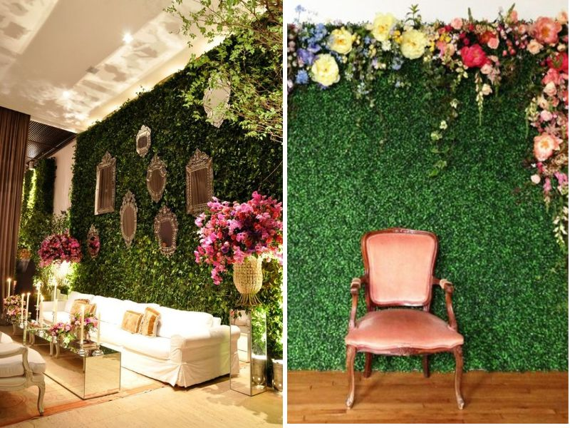 31 best wedding wall decoration ideas everafterguide for Wall decoration ideas with photos