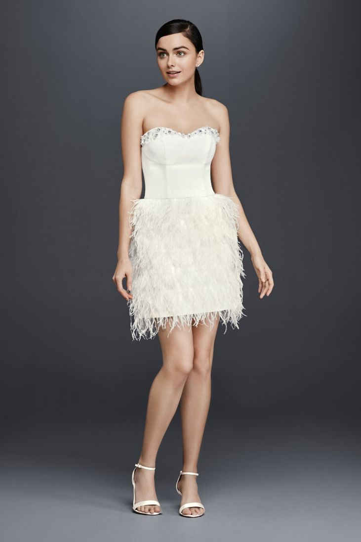 30 best recommendations of short wedding dresses for Short feather wedding dress
