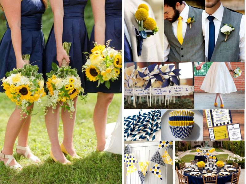 Blue And Yellow Wedding Themes Wedding Ideas