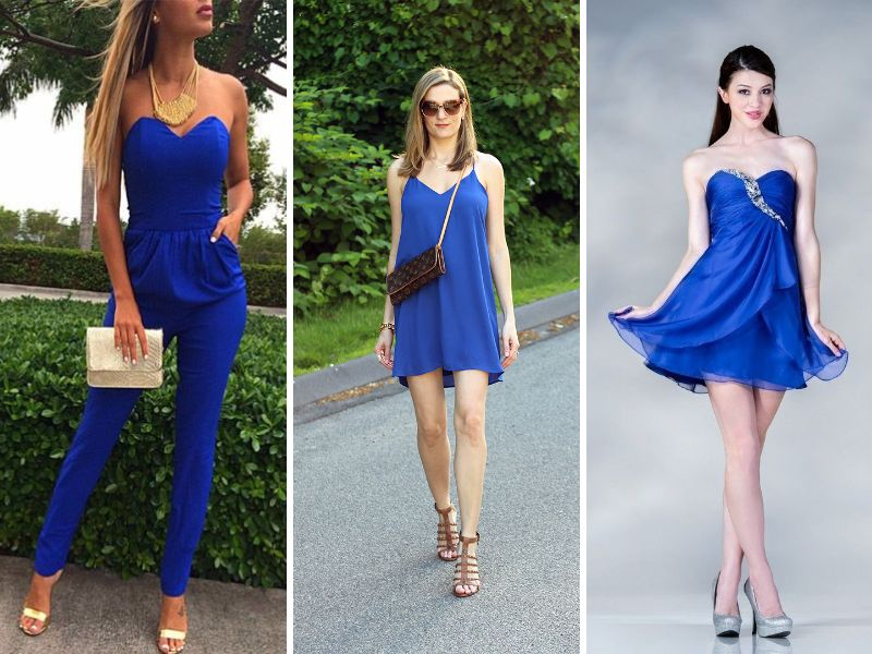 Makeup tips for wearing royal blue dress everafterguide for Can you wear a red dress to a wedding
