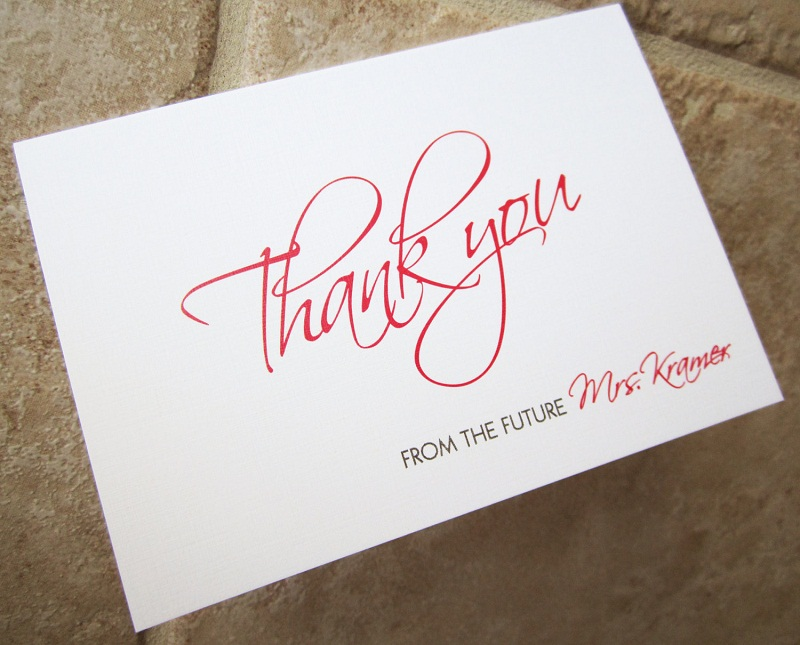 How To Write A Wedding Gift Message : How to Write Bridal Shower Thank You Card