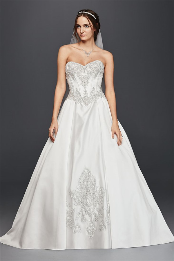 The most amazing wedding dresses for brides with big belly for Best wedding dresses for big busts