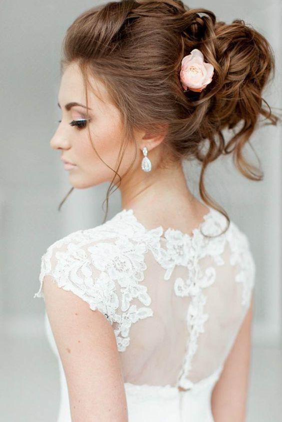 Awesome 30 Best Wedding Bun Hairstyles Everafterguide Short Hairstyles Gunalazisus
