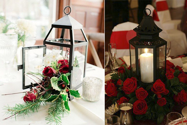Wedding Decoration Ideas: Red, White and Black Table ...