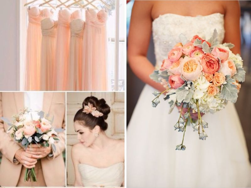 peach and light blue wedding cake champagne and light blue wedding and other great combos 18131