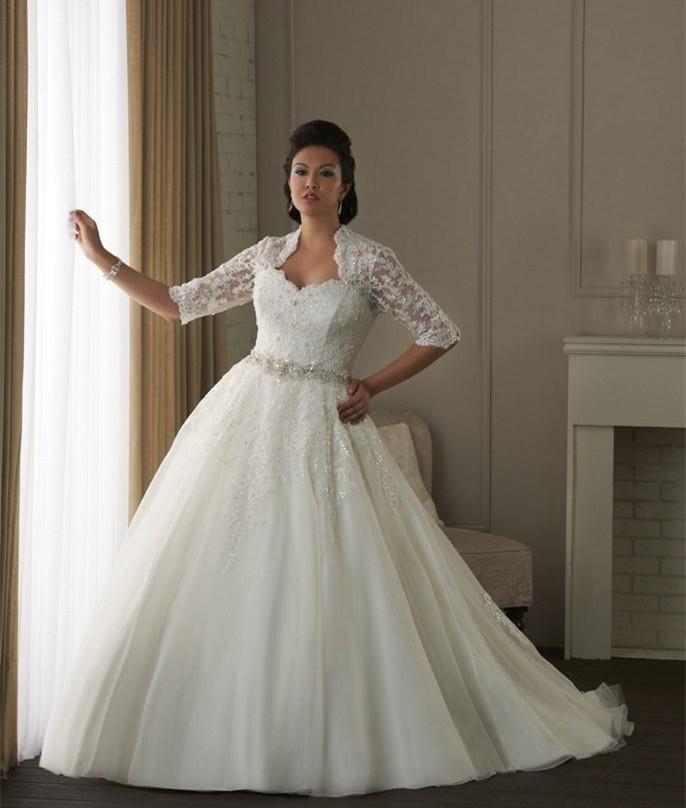 The best wedding dresses for brides with fat arms for Big girl wedding dresses