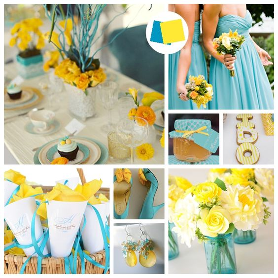 Inspirations for blue and yellow wedding colors