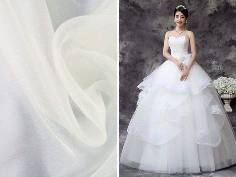 List of the trendiest wedding dress material and fabrics for Wedding dress fabric guide