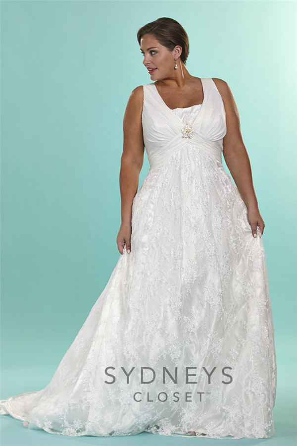 The most amazing wedding dresses for brides with big belly for Wedding dress for big girls